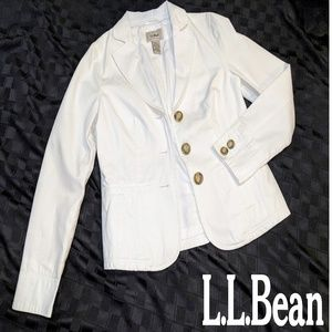 L.L. Bean white sports coat